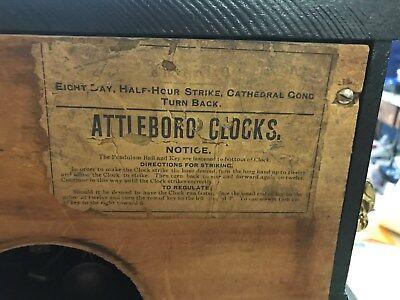 ATTLEBORO MANTLE CLOCK BY iNGERSOL---OUTSTANDING PIECE-------------------hg 5