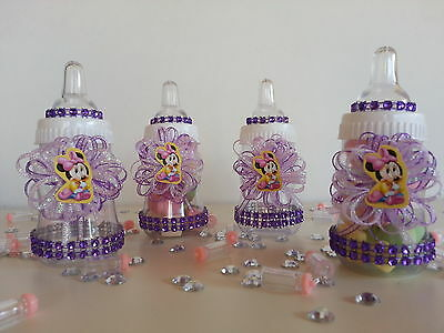 2 Of 11 12 Minnie Mouse Fillable Bottles Baby Shower Favors Prizes Girl  Decorations