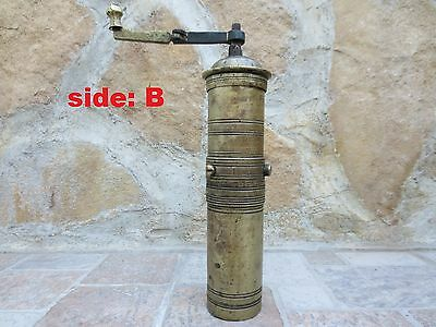 Primitive Antique Ottoman Brass-Carved TUGRA Marked Hand Coffee Grinder 19th #01 6