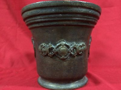 Huge Rare Antique European Bronze Mortar & Pestle Royal Aristrocatic Vase? King 5