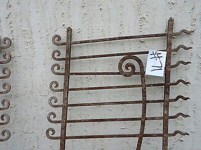 Antique Victorian Iron Gate Window Garden Fence Architectural Salvage Door #71 3