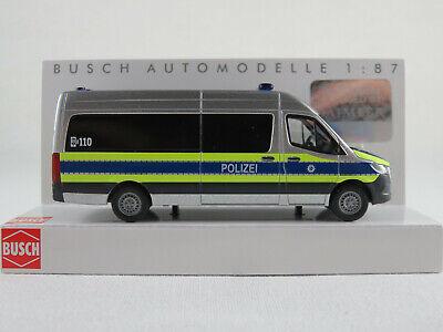 1//87 Busch MB VITO pouces Bus Voiture de police contrôle financier Noir Travail...
