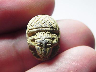 Zurqieh -Tat127-  Ancient Egypt, New Kingdom. Stone Scarab 1400 B.c 2