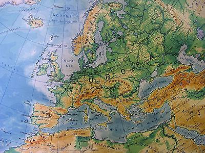 Schulwandkarte schöne alte Nördliche Erdhälfte Arktis 170x177c vintage map ~1957 7