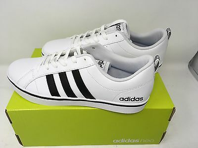 81d8ed17413f98 ... Adidas NEO Men s Pace VS Fashion Sneakers Shoes White Black Blue AW4594  NEW 3
