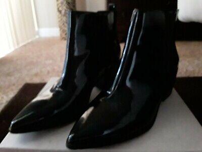 Tahari Roman Pointed Toe Ankle Booties Black 9M