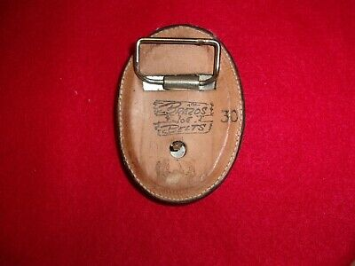 Vintage Brazos Joe Leather Hand Tooled Belt Buckle 2