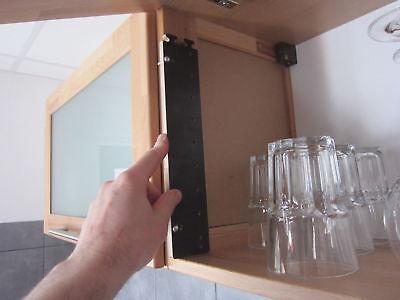 Bohrschablone Bohrlehre EDELSTAHL easy 32 er Lochreihe 5mm Bohrung Topfband L+R