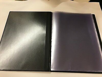 Pvc BLACK LEATHER LOOK GUEST INFORMATION FOLDER - TOP QUALITY 4