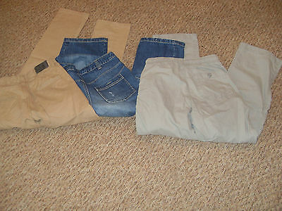 bundle 3 PAIRS BOYS CASUAL JEANS TROUSERS AGE 12 BLUE ZOO, GAPKIDS, GEORGE 2