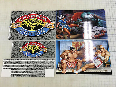 Arcade1up Cabinet Riser Graphics - Street Fighter 2 II Graphic Sticker Decal Set 4