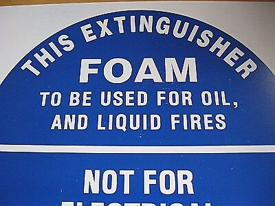 Fire Extinguisher Sign, Foam. Safety,security,protection. Diy. Ohs.