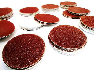 """100 Pk Hook & Loop Sanding Grinding Abrasive Pad Mixed Grit Discs 2""""(50mm) 8113"""