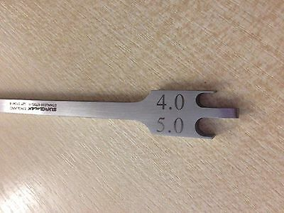 Dental 018 Bracket Height Gauge 3.5-4.5 / 4.0-5.0 Measuring Instrument Surgimax®