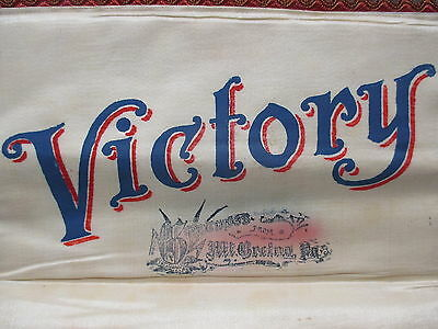 Victory In Memory Of My Service Worlds War WWI 1917-1918 Cloth Document Holder 2