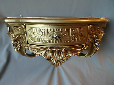 Wall Console with Drawer/Mirror Console/Wall Shelf Baroque Gold 50x27 Antique 3