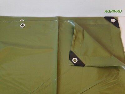 Telo PVC telone occhiellato copertura impermeabile esterni VERDE multiuso ULTRA 2