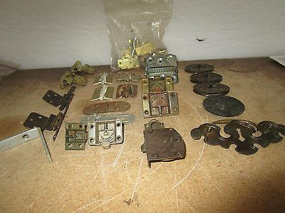 Vintage Misc Pulls Hinges L Bracket Bag of L Hinges Drawer Cabinet Pulls More 8