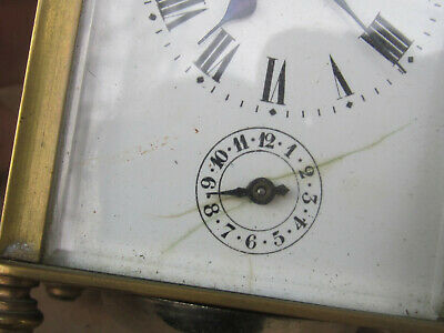 Antique French Bronze Carriage Clock 1900s - working 12