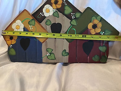 Wooden Yard Folk Art Lawn Or Patio Decorations Bird Houses And  A Holiday Angel 11