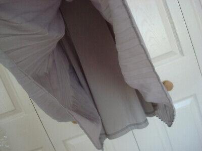~ UNION ~ Bib & Brace DUNGAREE TOP & PLEATED SKIRT Pinafore DRESS Grey 12 BNWT 6