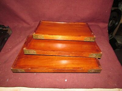 Set Chinese Old or Antique Hardwood Nesting Trays 20th century 8