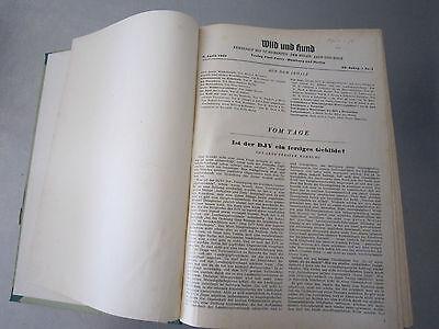 """""""Wild und Hund"""" kompletter 60. Jahrgang von April 1957 - März 1958,Hege,Pirsch 2"""