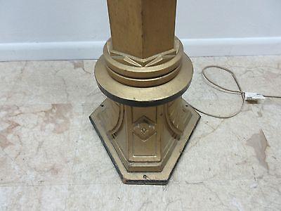 Antique Victorian Masonic Mason Taper Pole Lamp Light Lighting 7