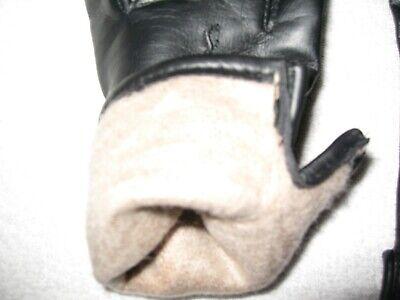 Pair Of Vintage Ladies Gloves Black With Warm Lining Nice Detail On Back 5