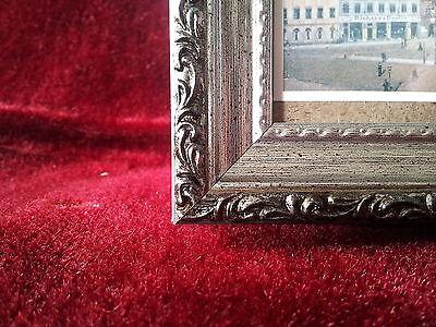 2x bilderrahmen antik silber schwarz m glasscheibe. Black Bedroom Furniture Sets. Home Design Ideas