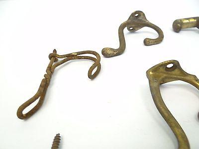 Mixed Antique Vintage Lot Metal Wrought Iron Brass Decorative Coat Hooks Hangers 11