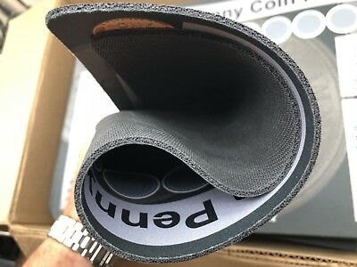 """11"""" X 17"""" Penny Coin Roll Hunting Mat - Rubber Backed and Safe for Coins! 3"""