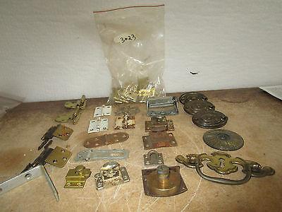 Vintage Misc Pulls Hinges L Bracket Bag of L Hinges Drawer Cabinet Pulls More 9