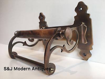 Vintage Toilet Roll Holder Victorian Antique Copper Bronze Edwardian Unusual Old 3