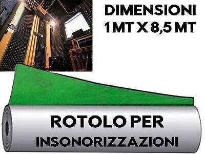 INSONORIZZAZIONE MUSICA ROTOLO AUTO ADESIVO 8,5M Piombo Gommapiombo Polipiombo 6