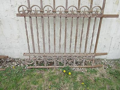 Antique Victorian Iron Gate Window Garden Fence Architectural Salvage Door #310 4