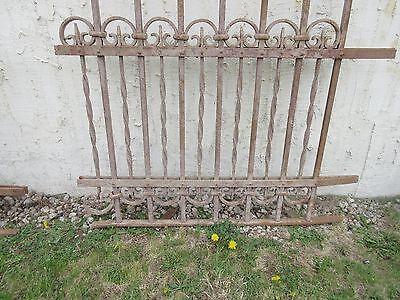 Antique Victorian Iron Gate Window Garden Fence Architectural Salvage Door #310 4