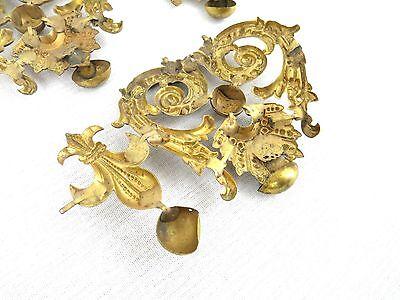 Antique Vintage Lot 3 GOLD TONE COLOR DRAWER PULL KNOBS? OR DECORATIVE ART PIECE 6