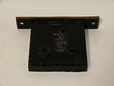 Broken Leaf Exterior Entry Door Mortise Lock Cast Iron Brass Victorian Lockwood 3