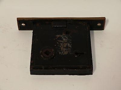 Broken Leaf Exterior Entry Door Mortise Lock Cast Iron Brass Victorian Lockwood 3