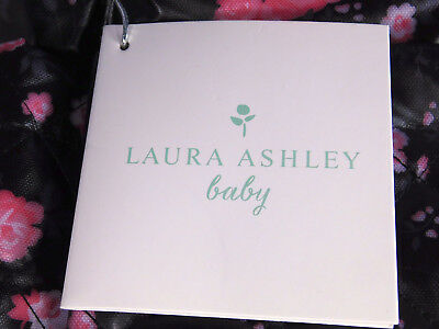 Laura Ashley 6 in 1 Floral Diaper Bag Tote Black NEW WITH TAGS