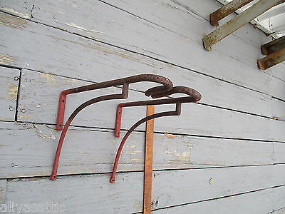 Antique 1800's  Equestrian Hand Forged Iron Tack Saddle Rack Horse 12