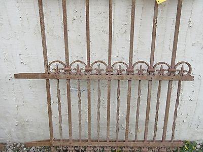 Antique Victorian Iron Gate Window Garden Fence Architectural Salvage Door #304 3