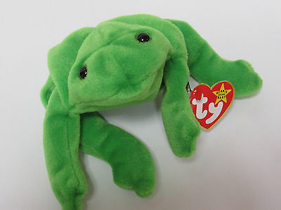 ea2df050461 ... Ty Beanie Baby Legs Green Frog PRISTINE Mint Tags