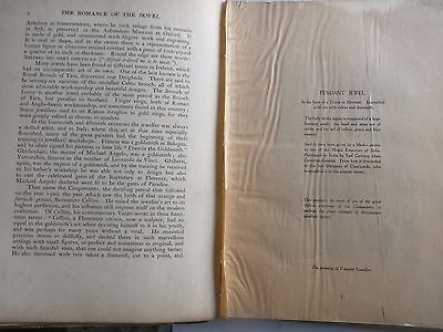 1920 The Romance of the Jewel Author STOPFORD francis Private Circulation Book