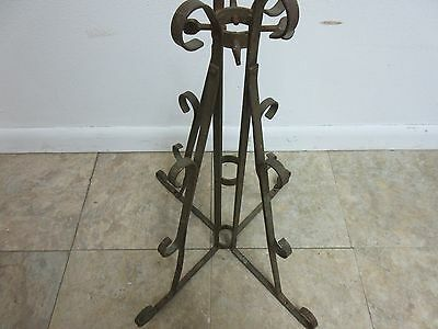 Antique Wrought Iron Scroll Flag Pole Music Stand Ceremonial 6