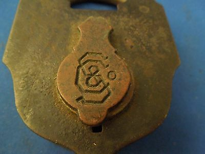 Antique S & Co Sargent & Company New Haven CT Padlock No Key 2