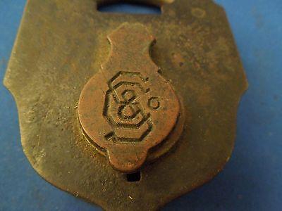 Antique S & Co Sargent & Company New Haven CT Padlock No Key 2