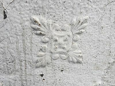 "GORGEOUS antique VICTORIAN tin ceiling pressed white BOW pattern 4 - 24"" sq pcs 6"