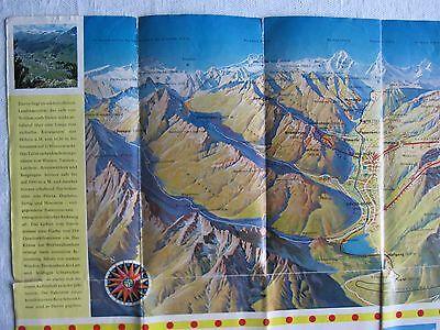 Davos 1962 Panoramakarte Infobroschüre Reiseinformation Landkarte